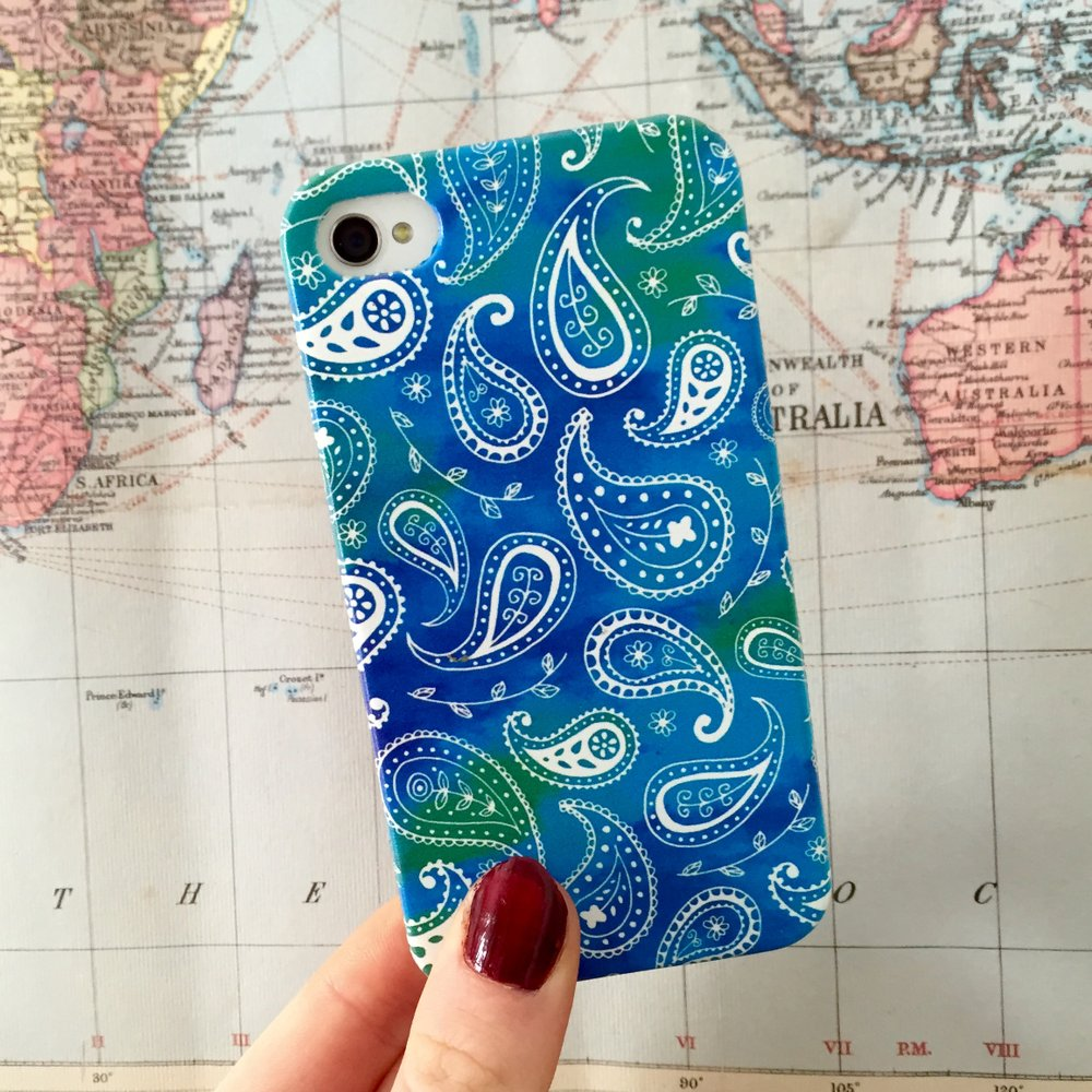 Paisley case in Blue