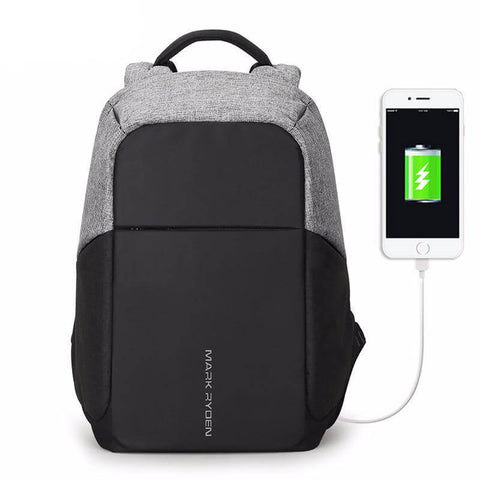 Jacquard USB Charging Laptop Backpack - Contrast - BillionHikes