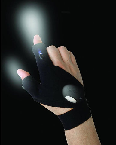 Waterproof Fingerless Glove with LED Torch - BillionHikes
