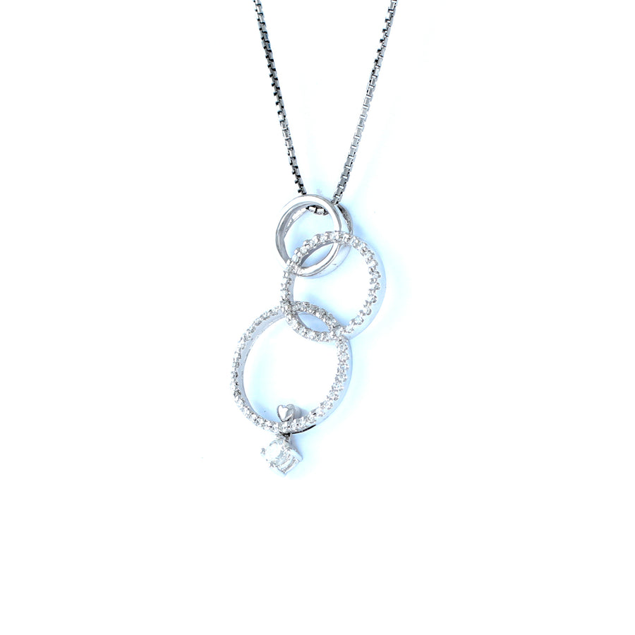 18KT WHITE GOLD LADIES PENDANT (PE0001492)