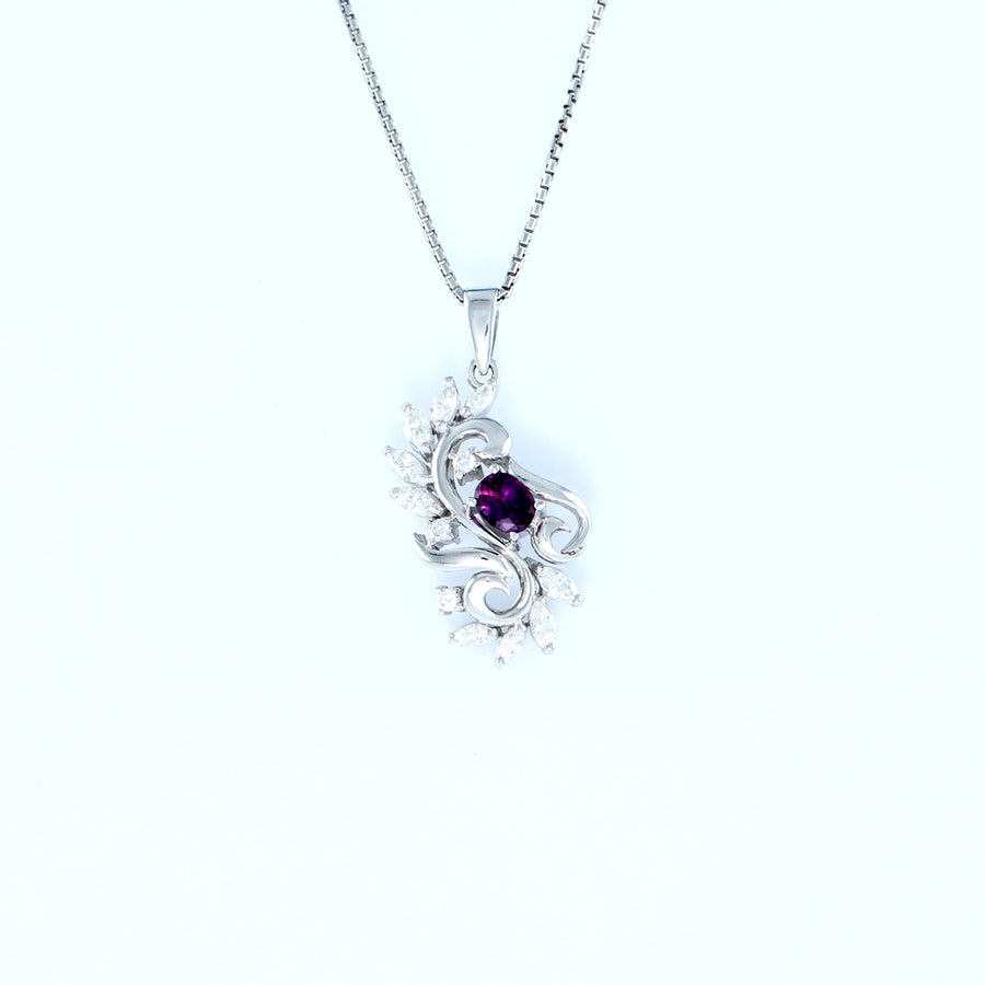 18KT WHITE GOLD LADIES PENDANT (PE0001497)