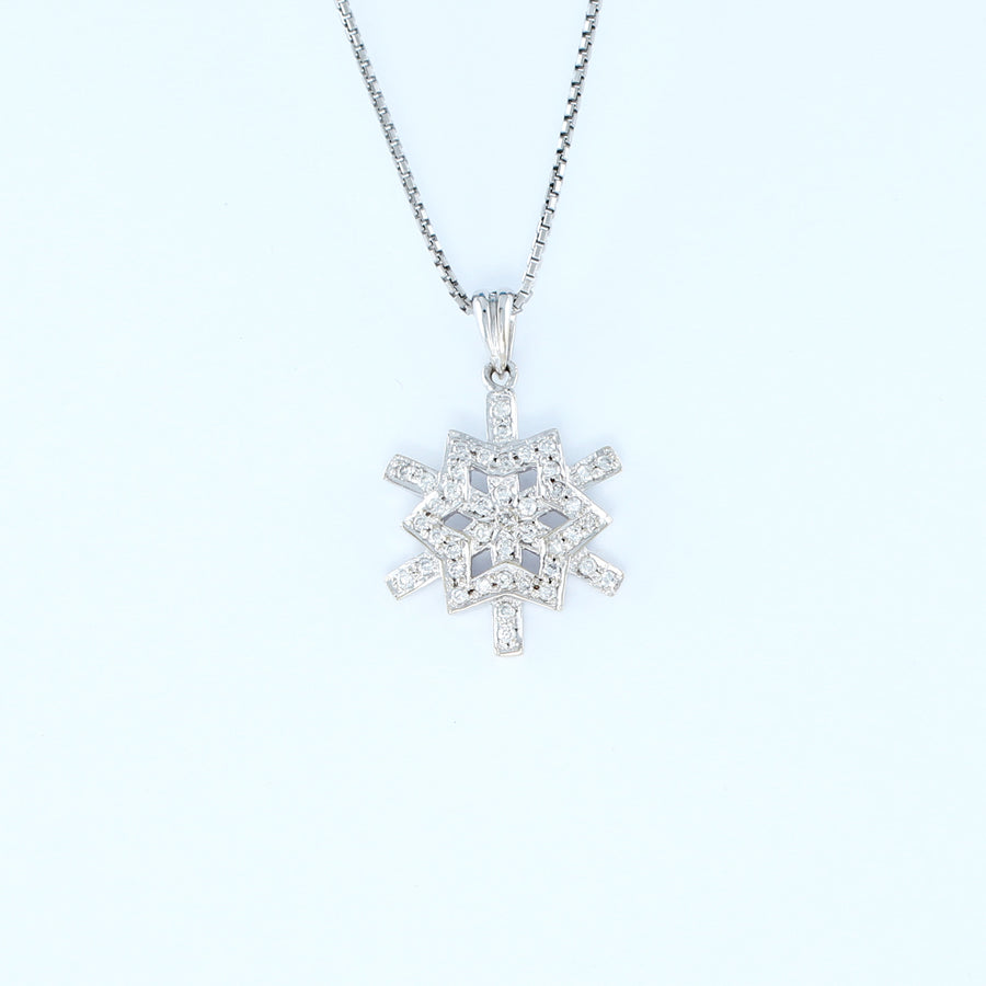 18KT WHITE GOLD LADIES PENDANT (PE0001498)