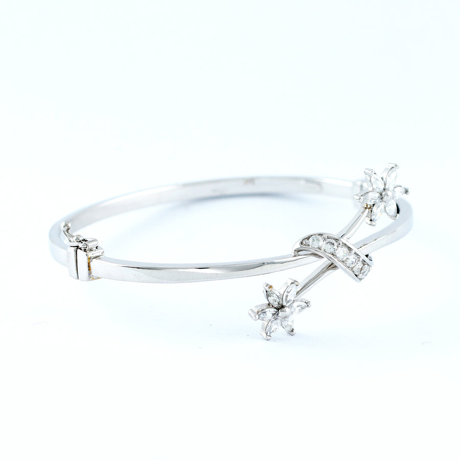 18K WHITE GOLD BANGLE (BA0000828)