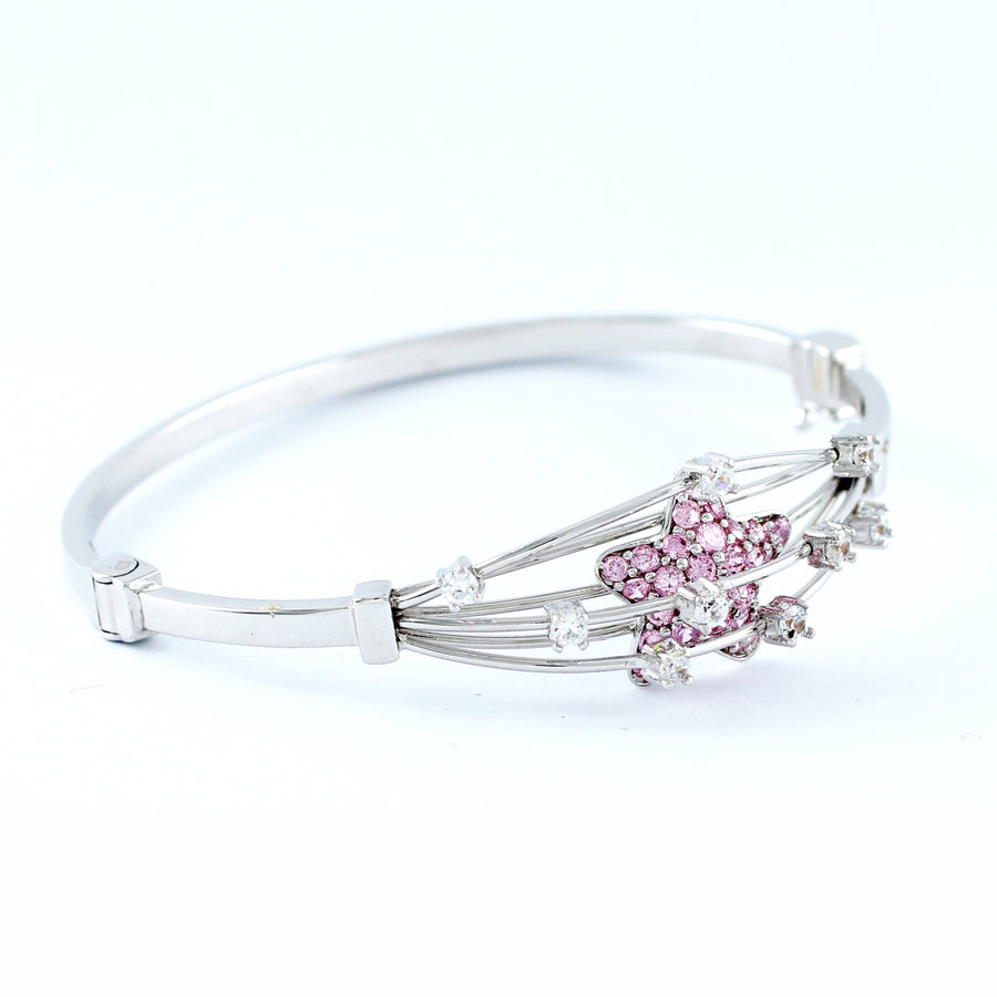 18K WHITE GOLD BANGLE (BA0000830)