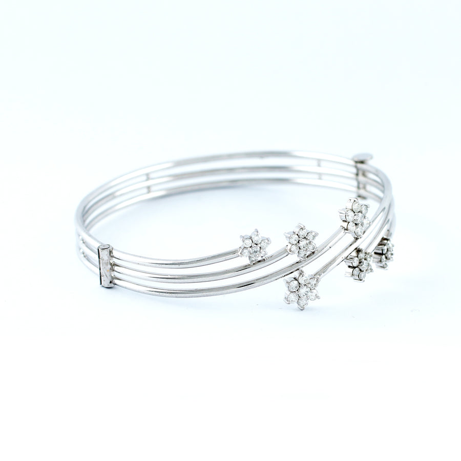 18K WHITE GOLD BANGLE (BA0000832)