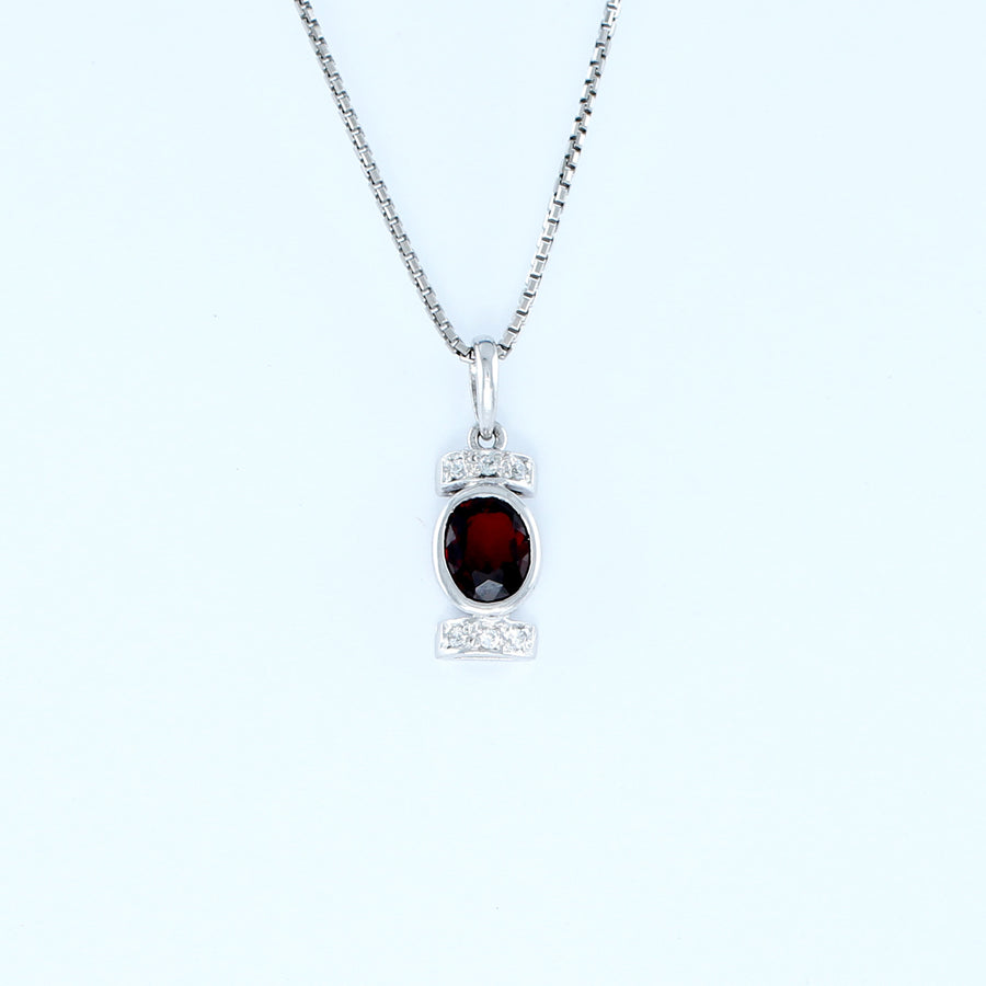 18KT WHITE GOLD LADIES PENDANT (PE0001500)