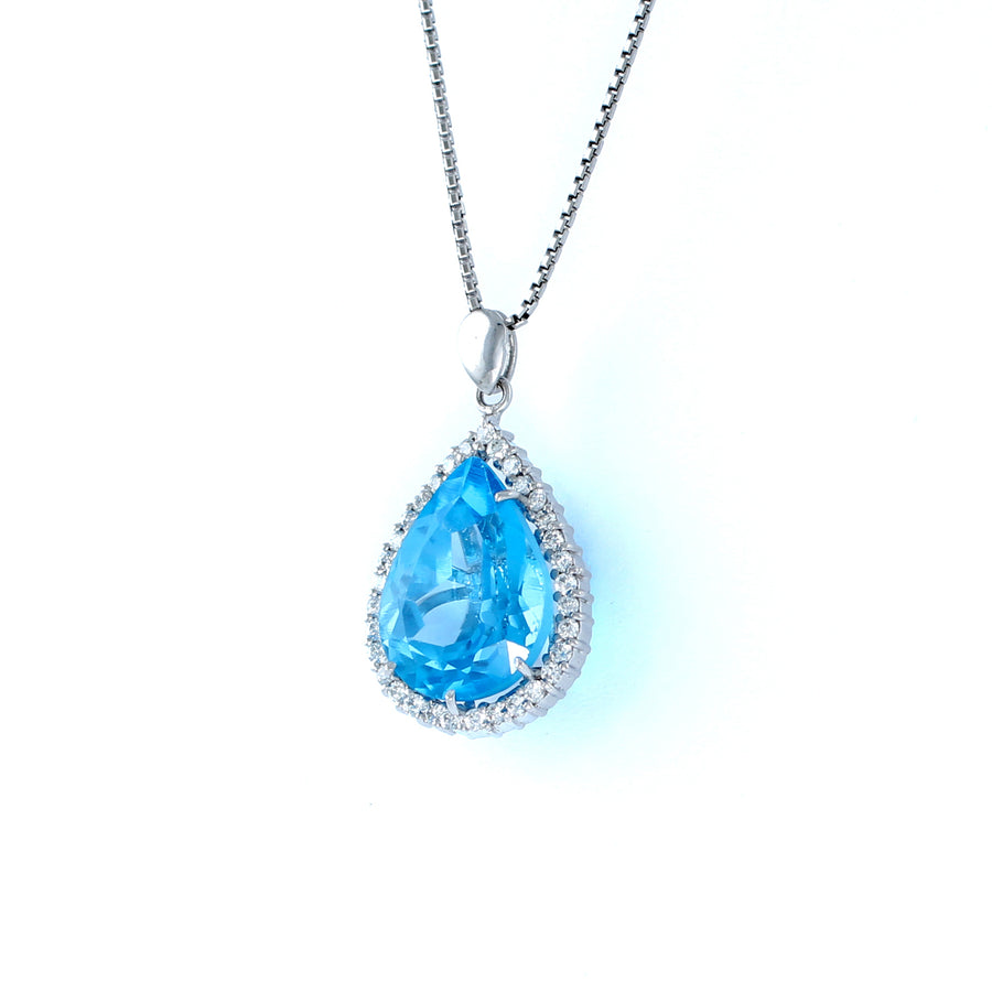 18KT WHITE GOLD LADIES PENDANT (PE0001503)