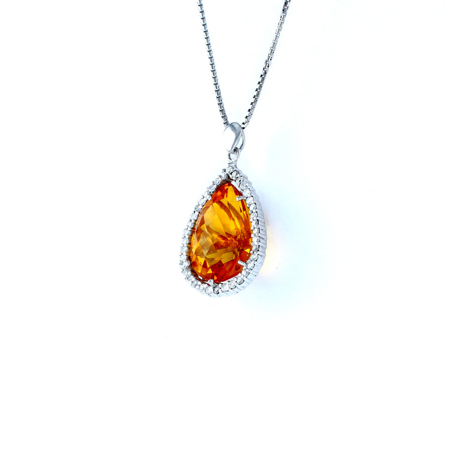 18KT WHITE GOLD LADIES PENDANT (PE0001504)