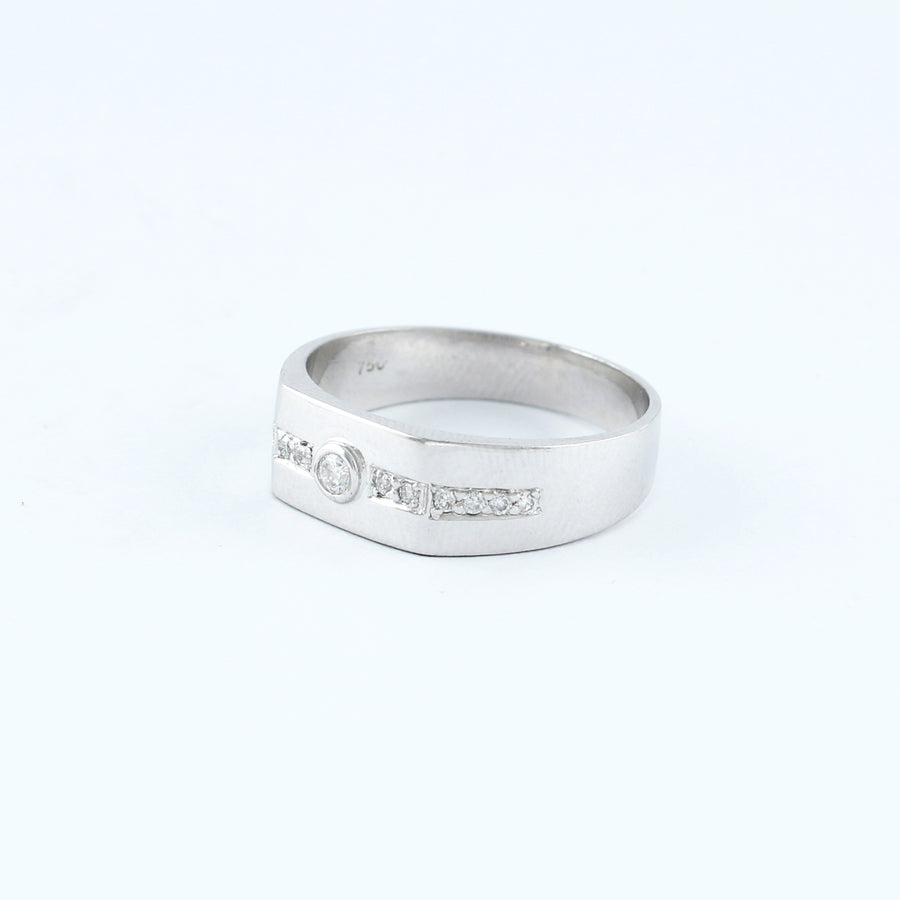 18KT WHITE GOLD LADIES RING (RI0001700)