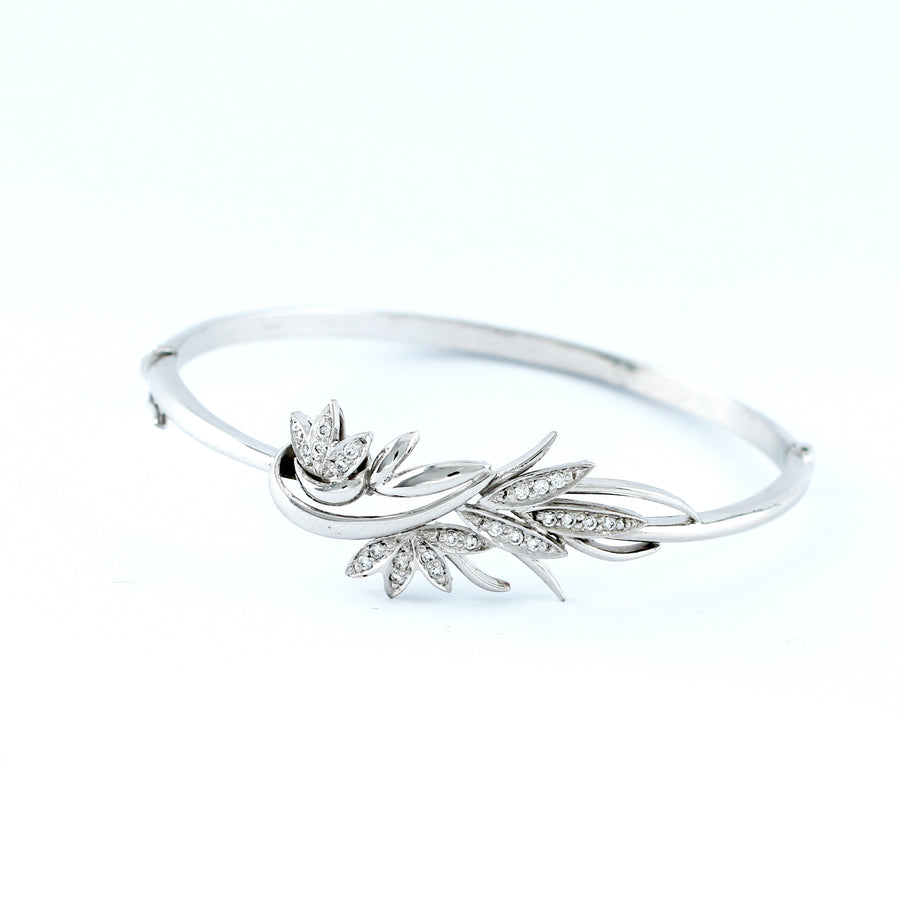 18K WHITE GOLD BANGLE (BA0000833)