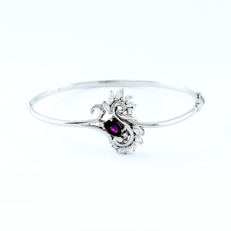 18K WHITE GOLD BANGLE (BA0000831)