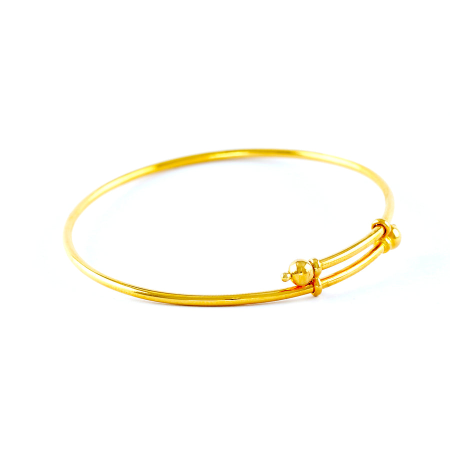 PAIR OF 22KT YELLOW GOLD BABY BANGLES (BA0000178)