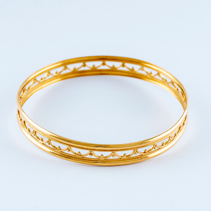 22KT YELLOW GOLD BANGLE (BA0000345)