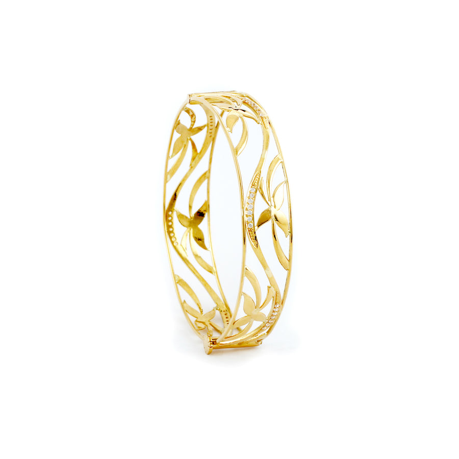 22KT YELLOW GOLD BANGLE (BA0000363)