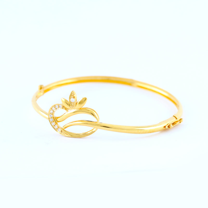 22KT YELLOW GOLD BANGLE (BA0000528)