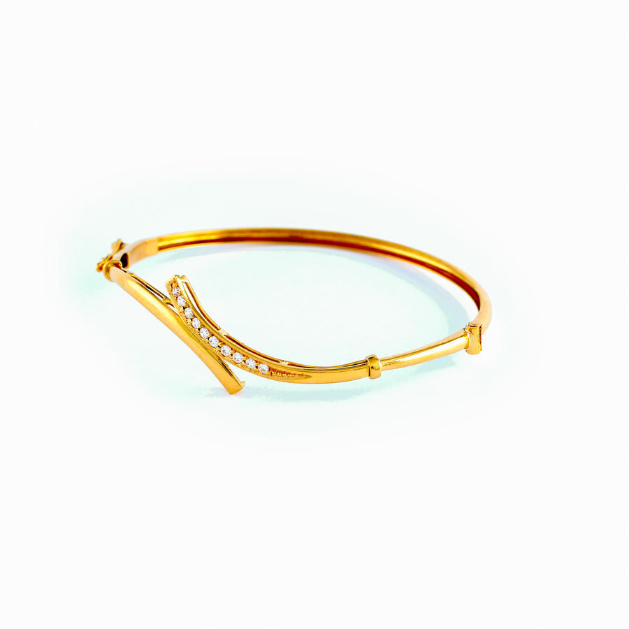 22KT YELLOW GOLD BANGLE (BA0000736)