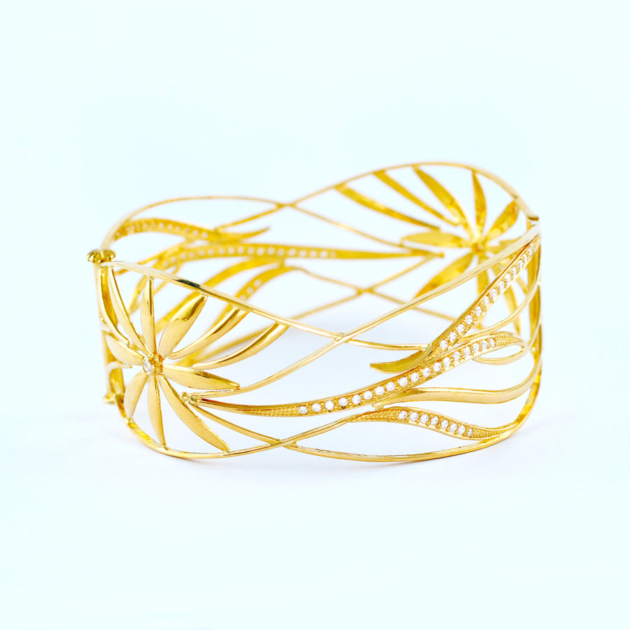 22KT YELLOW GOLD BANGLE (BA0000783)