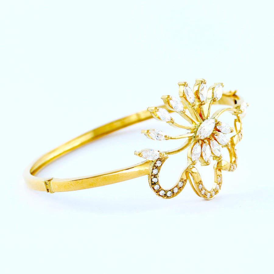 22KT YELLOW GOLD BANGLE (BA0000808)
