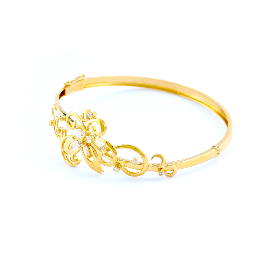 22KT YELLOW GOLD BANGLE (BA0000844)