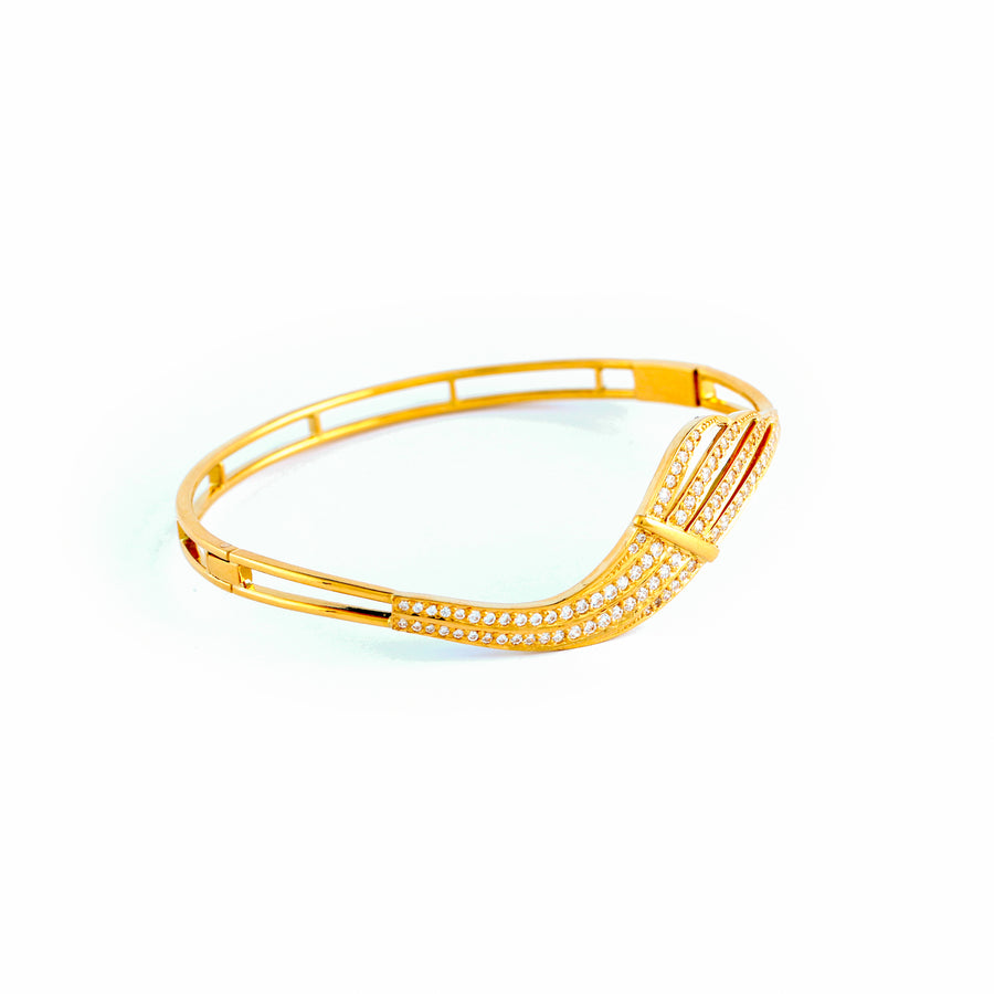 22KT YELLOW GOLD BANGLE (BA0000889)