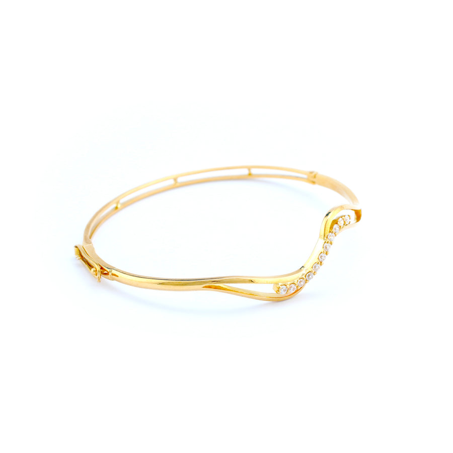 22KT YELLOW GOLD BANGLE (BA0000893)