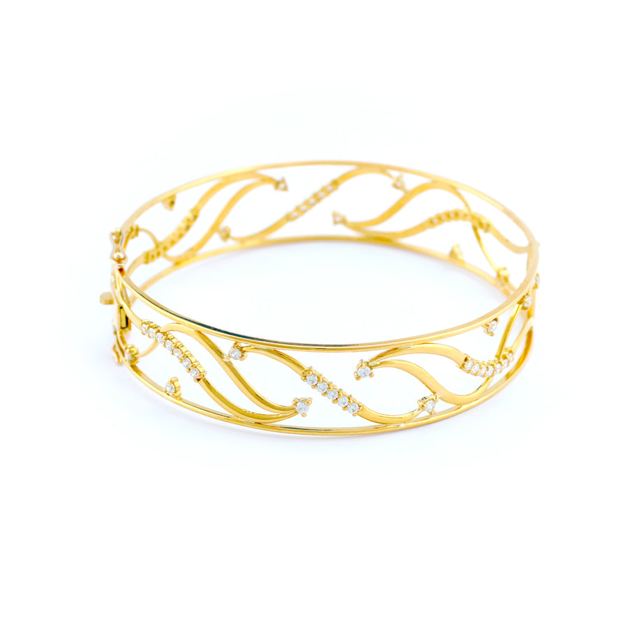 22KT YELLOW GOLD BANGLE (BA0000904)