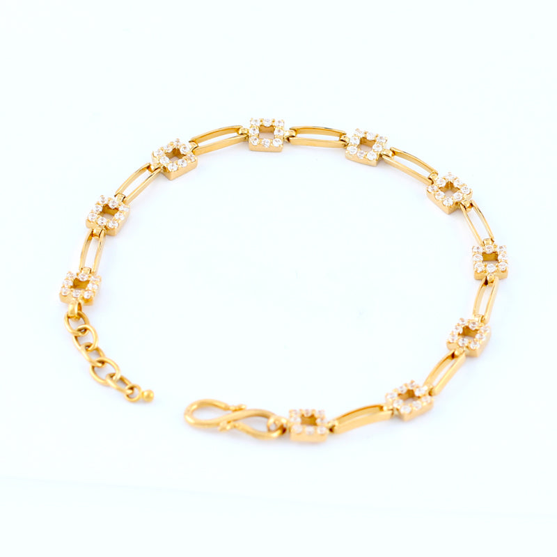 22KT YELLOW GOLD LADIES BRACELET (BR0000096)