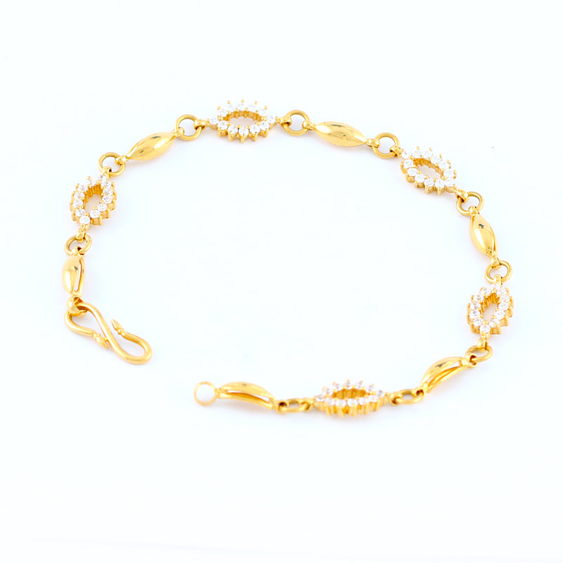 22KT YELLOW GOLD LADIES BRACELET (BR0000097)