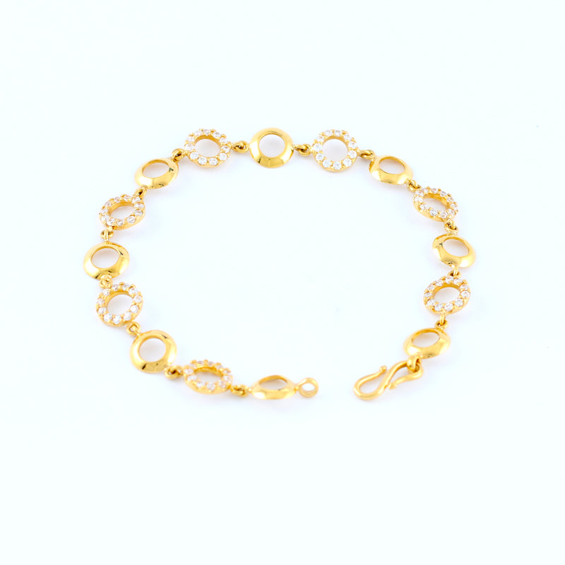 22KT YELLOW GOLD LADIES BRACELET (BR0000132)