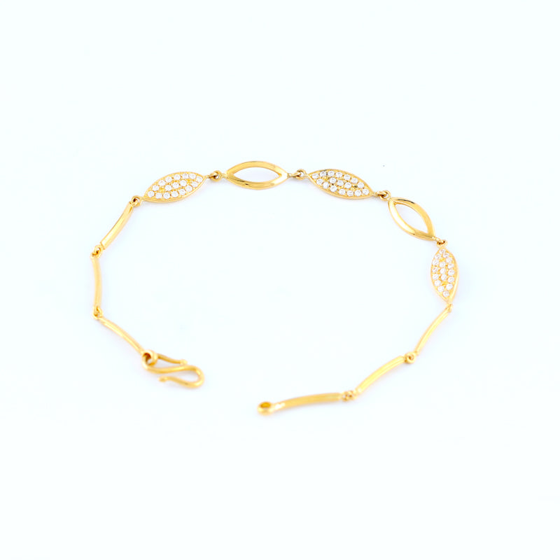 22KT YELLOW GOLD LADIES BRACELET (BR0000133)