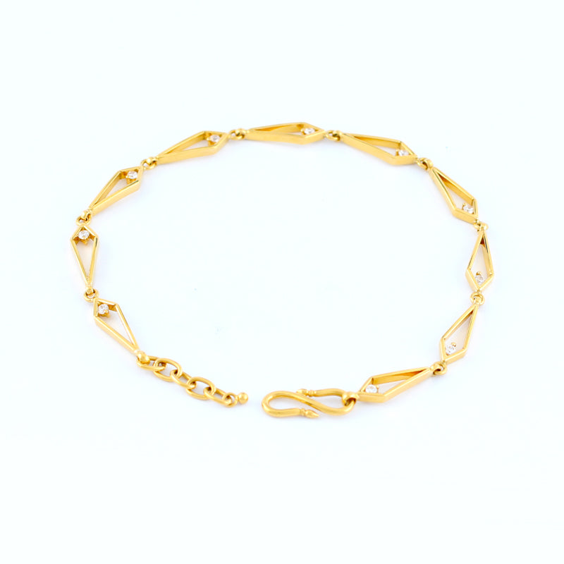 22KT YELLOW GOLD LADIES BRACELET (BR0000136)