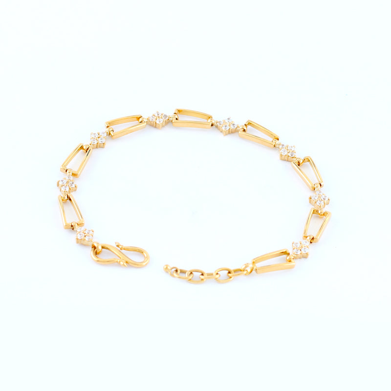 22KT YELLOW GOLD LADIES BRACELET (BR0000157)