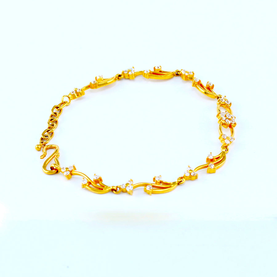22KT YELLOW GOLD LADIES BRACELET (BR0000158)
