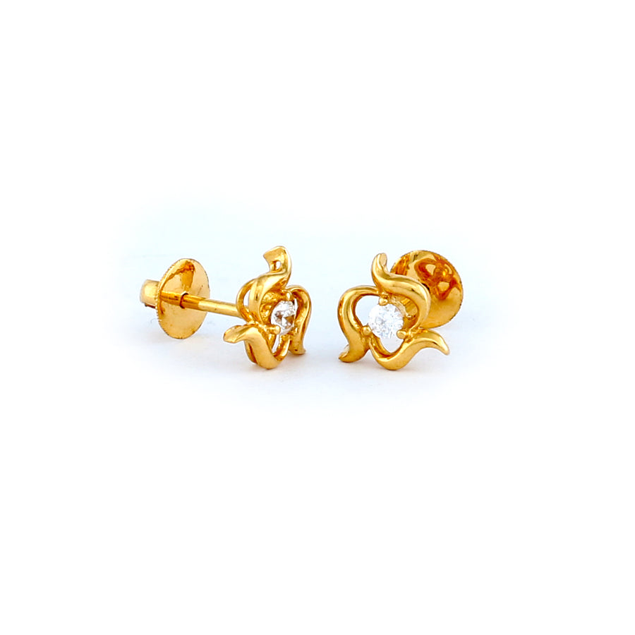 22KT YELLOW GOLD EAR STUD (ES0000060)