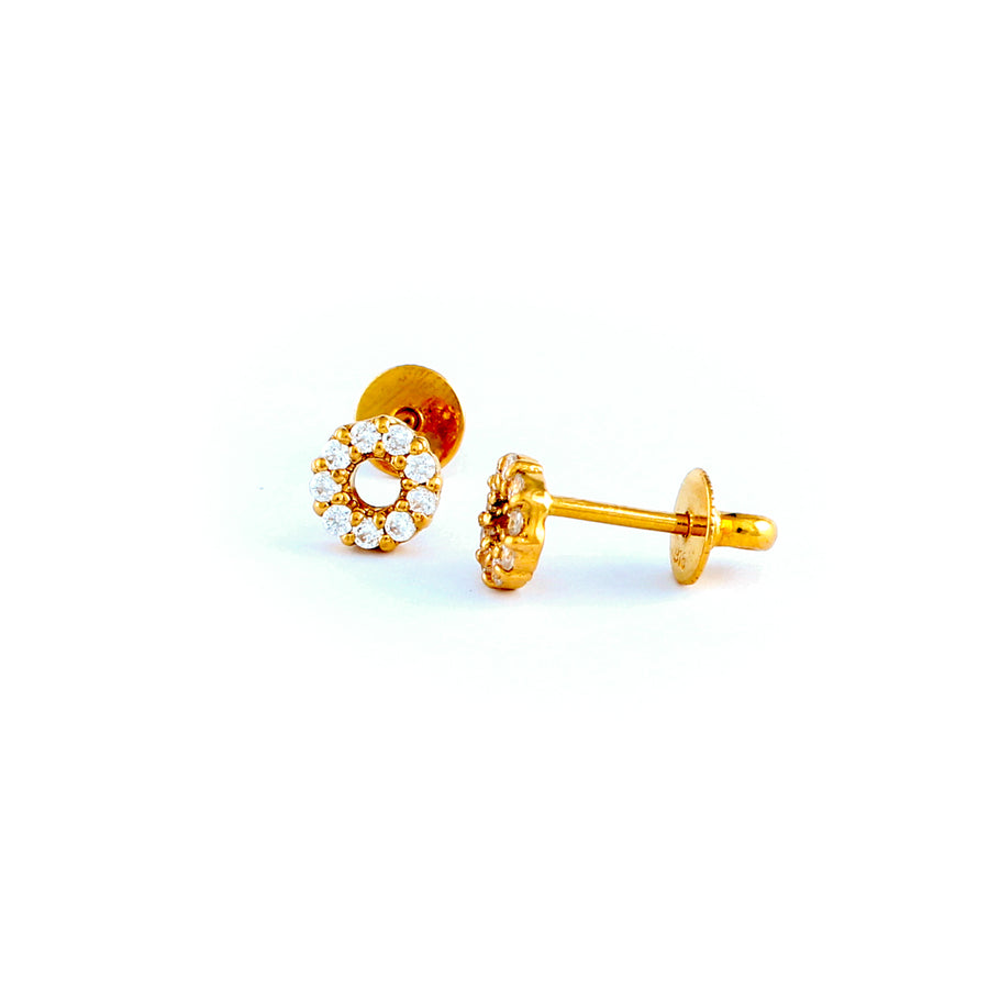22KT YELLOW GOLD EAR STUD (ES0000216)
