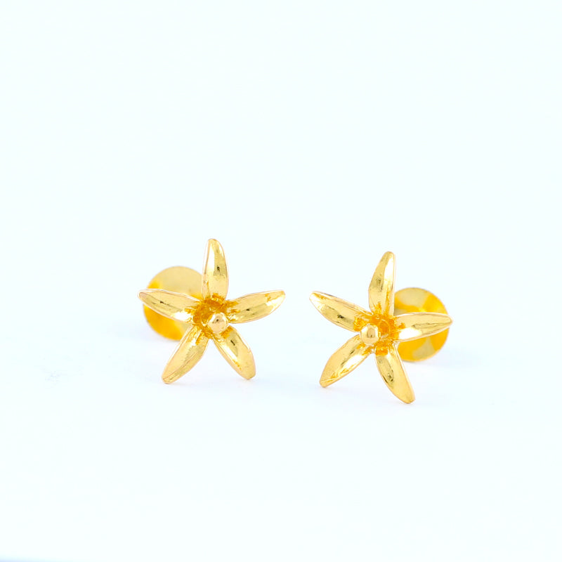 22KT YELLOW GOLD EAR STUD (ES0000230)