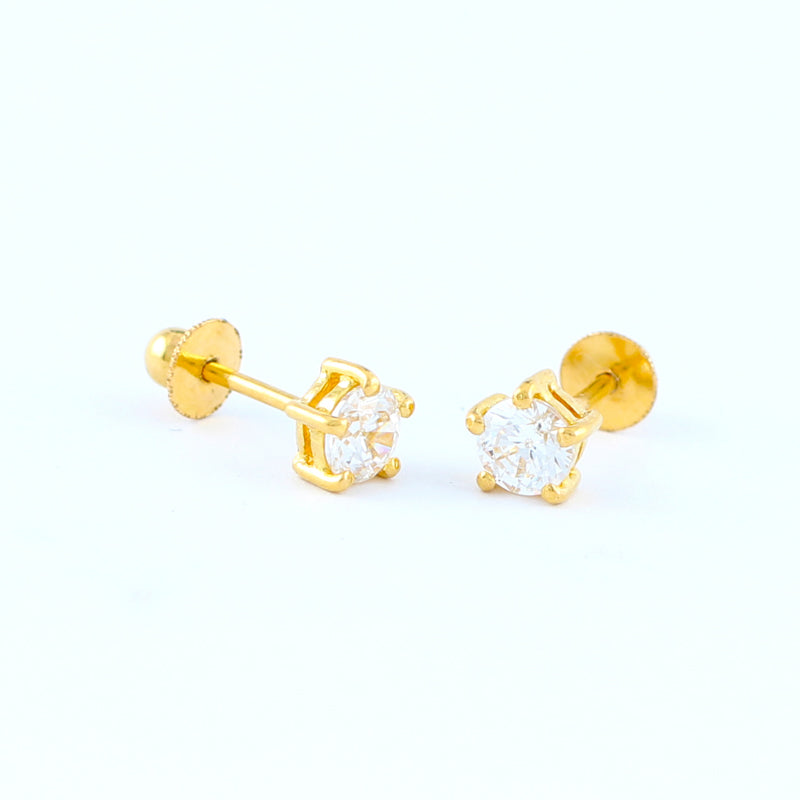 22KT YELLOW GOLD EAR STUD (ES0000304)