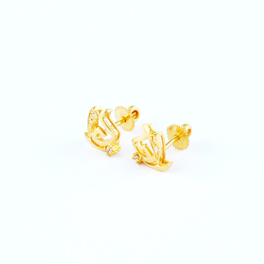 22KT YELLOW GOLD EAR STUD (ES0000532)
