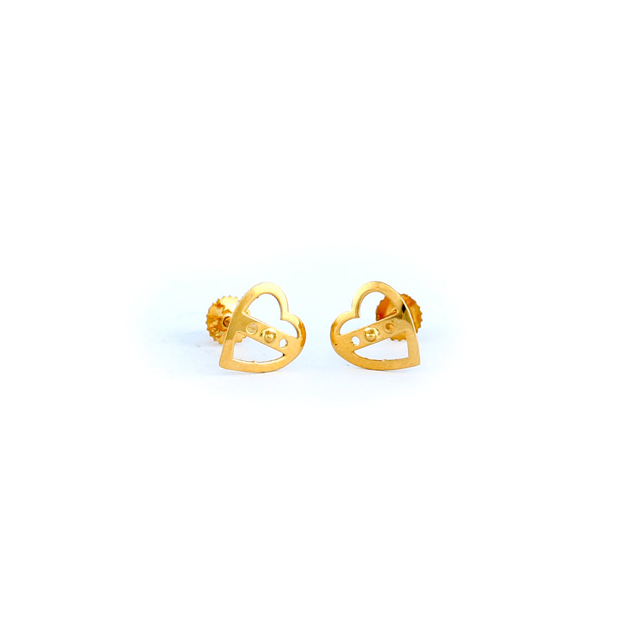 22KT YELLOW GOLD EAR STUD (ES0000542)