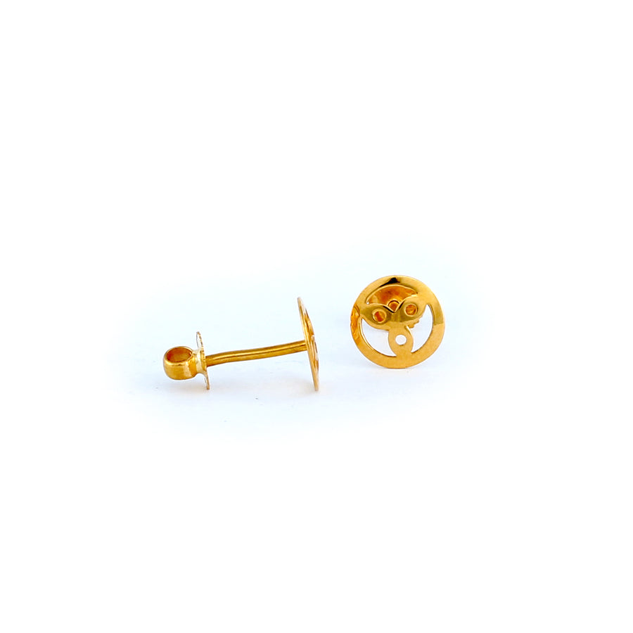 22KT YELLOW GOLD EAR STUD (ES0000560)