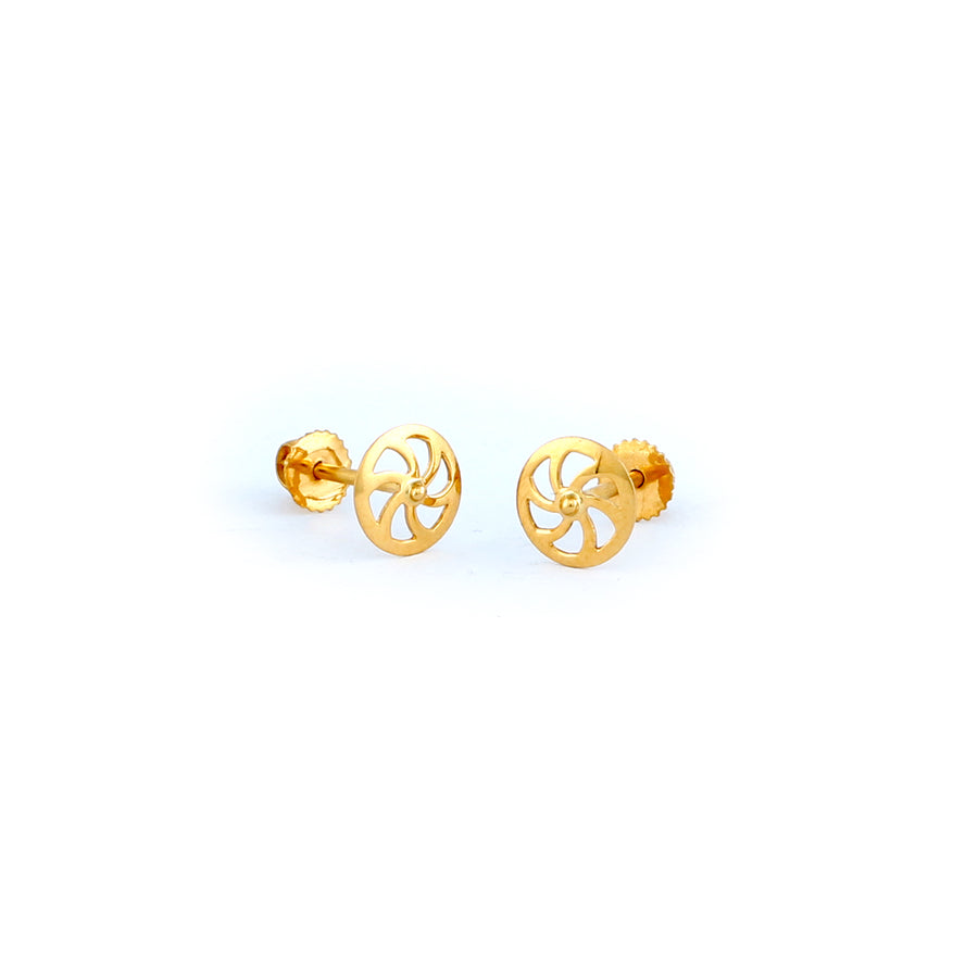 22KT YELLOW GOLD EAR STUD (ES0000622)
