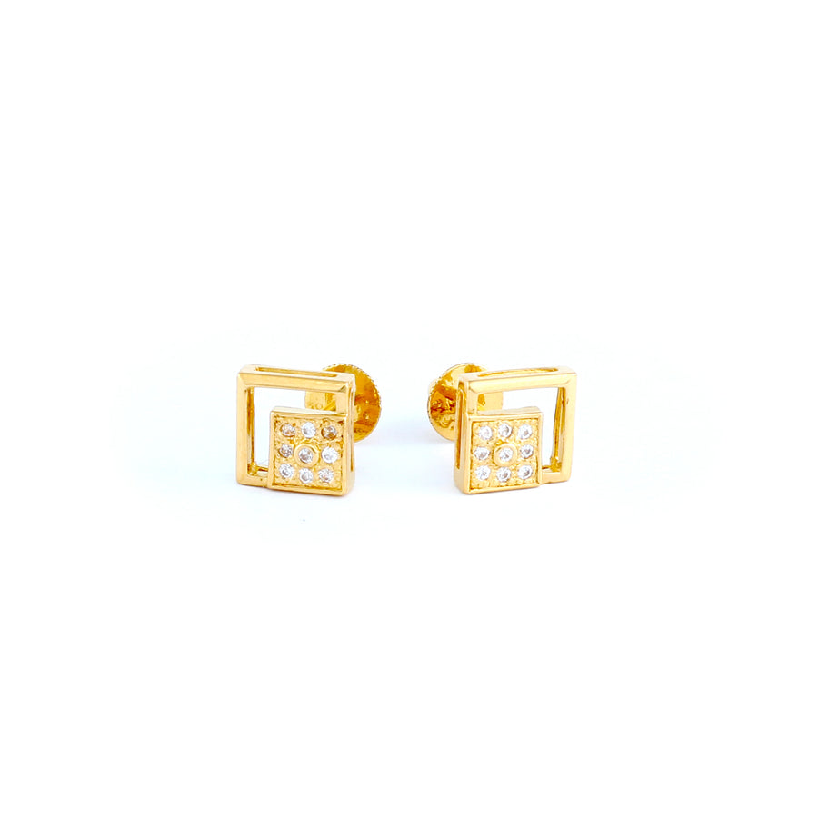 22KT YELLOW GOLD EAR STUD (ES0000730)