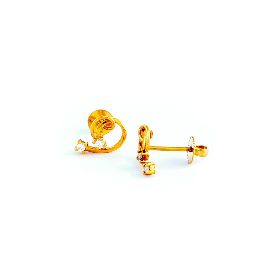 22KT YELLOW GOLD EAR STUD (ES0000808)