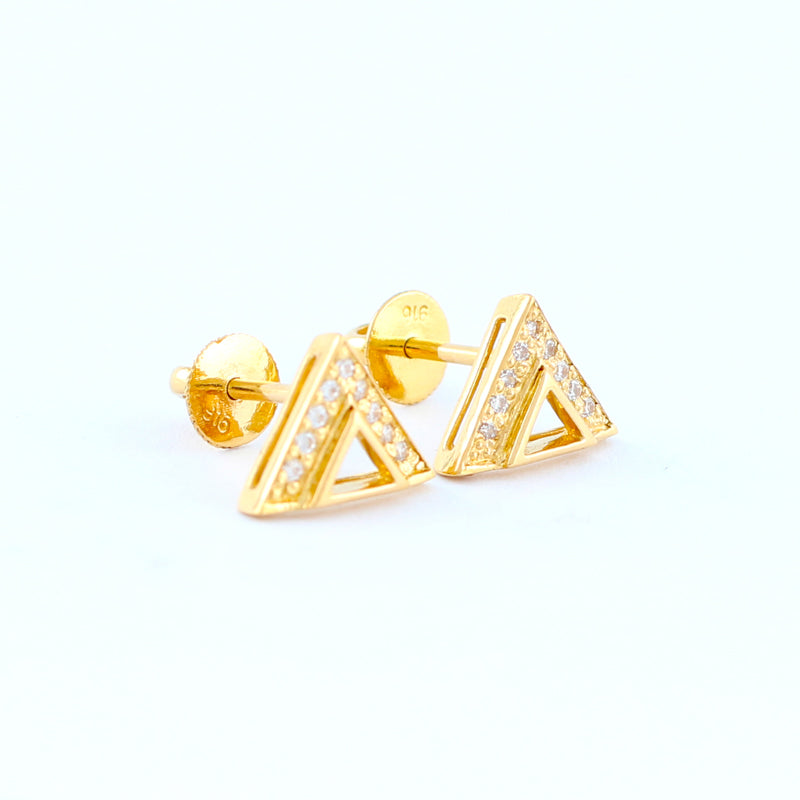 22KT YELLOW GOLD EAR STUD (ES0000811)