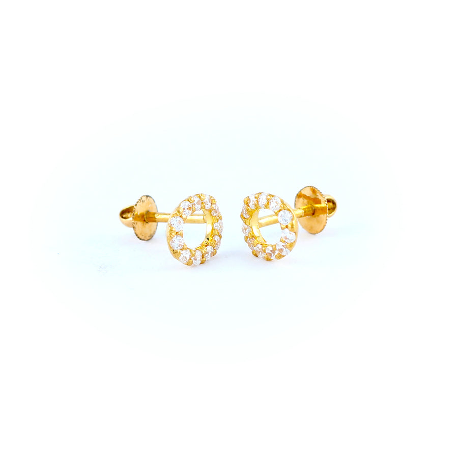 22KT YELLOW GOLD EAR STUD (ES0000841)