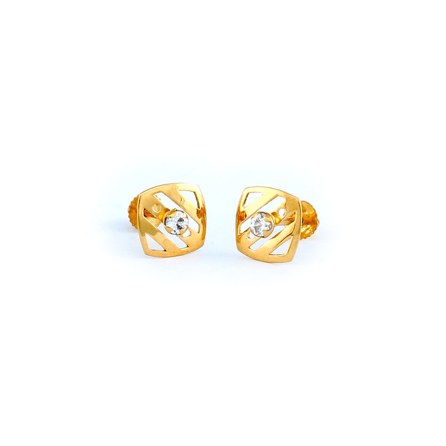 22KT YELLOW GOLD EAR STUD (ES0000939)