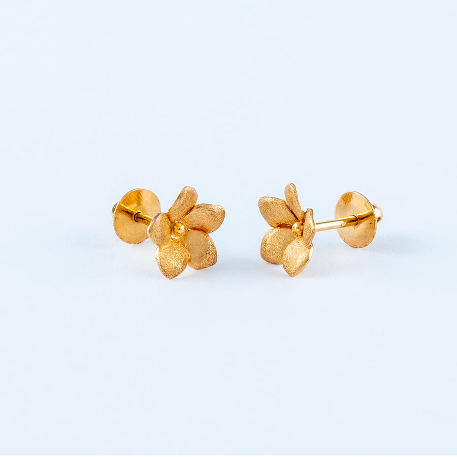 22KT YELLOW GOLD EAR STUD (ES0000946)
