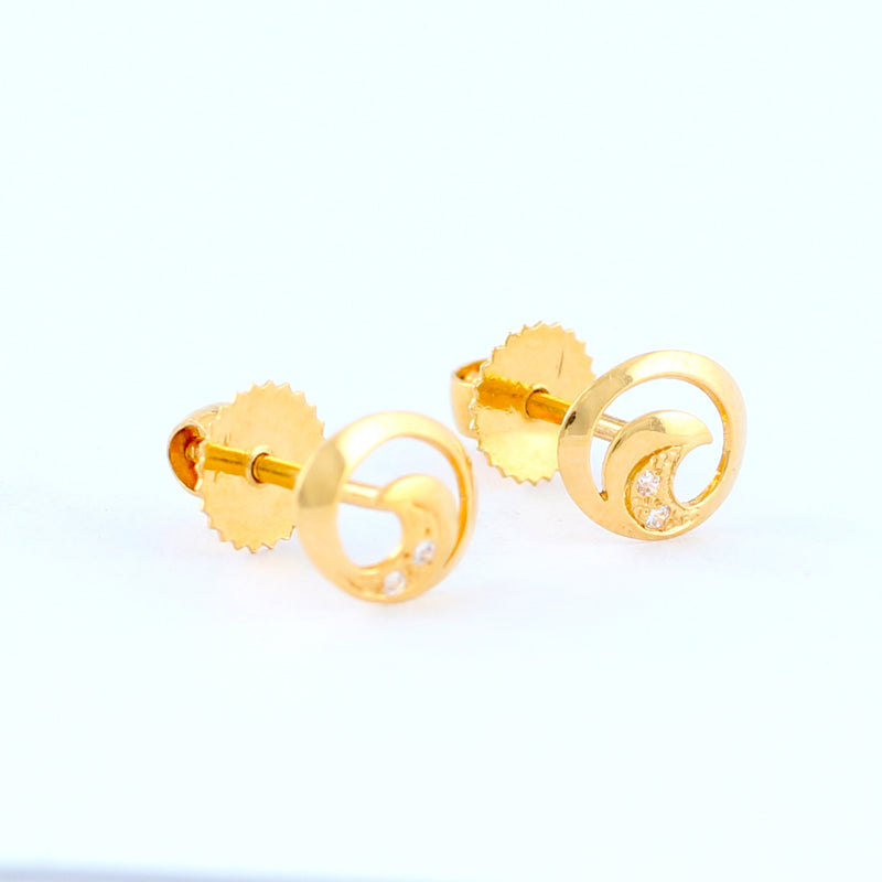 22KT YELLOW GOLD EAR STUD (ES0000964)