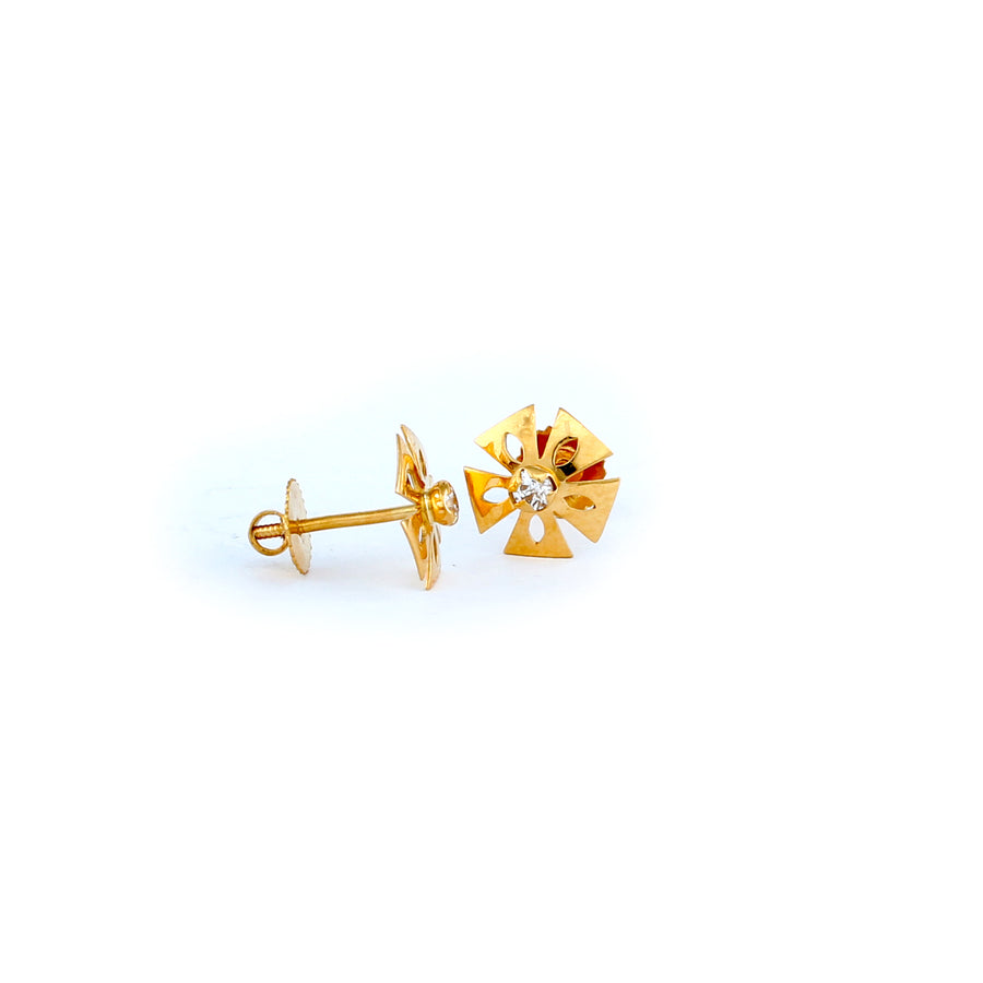 22KT YELLOW GOLD EAR STUD (ES0001014)