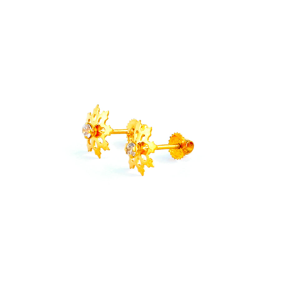 22KT YELLOW GOLD EAR STUD (ES0001063)